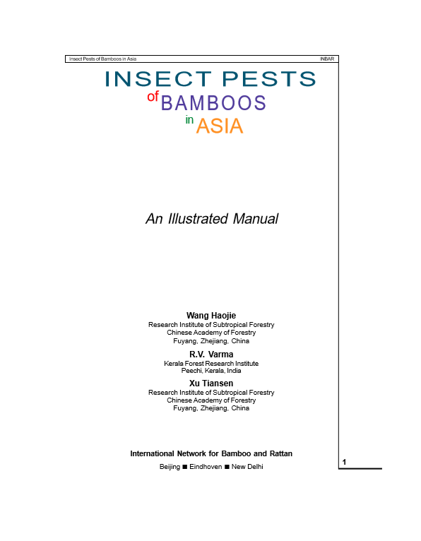 Insect Pests of Bamboos in Asia (Part 1)