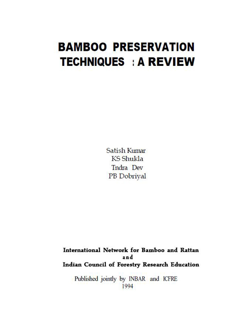 Bamboo Preservation Techniques: A Review