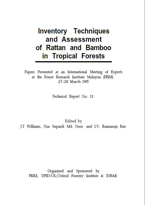 Inventory Techniques and Assessment of Rattan and Bamboo in Tropical Forests