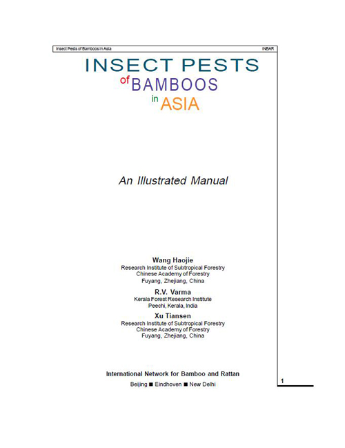 Insect Pests of Bamboos in Asia (Part 4)