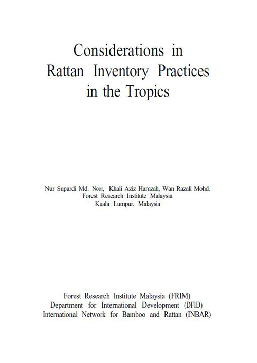 Considerations in Rattan Inventory Practices in the Tropics