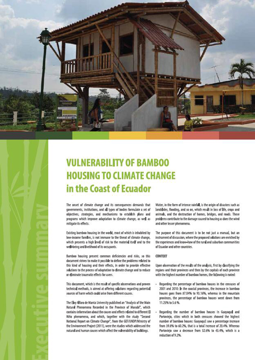 Vulnerability of Bamboo Housing to Climate Change in the Coast of Ecuador