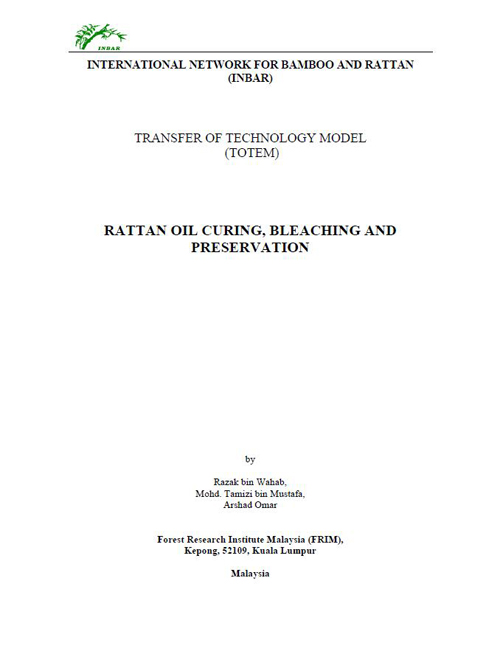 Rattan Oil Curing, Bleaching and Preservation
