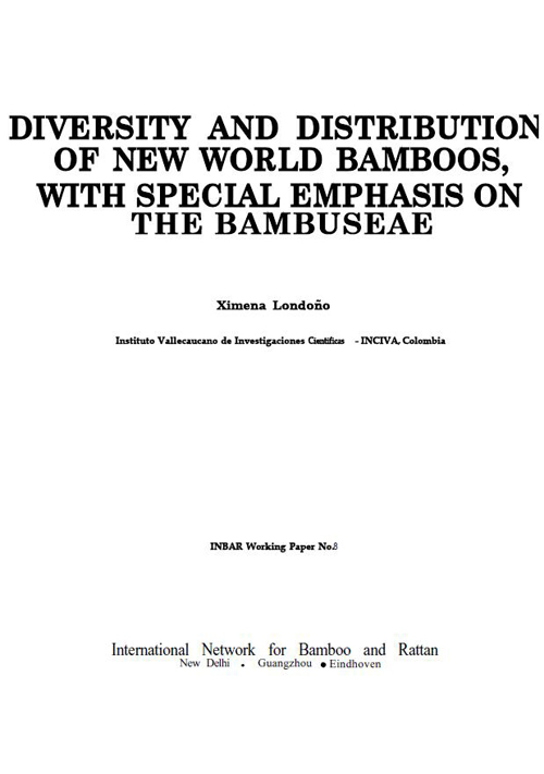 Diversity and Distribution of New World Bamboos, with Special Emphasis on the Bambuseae