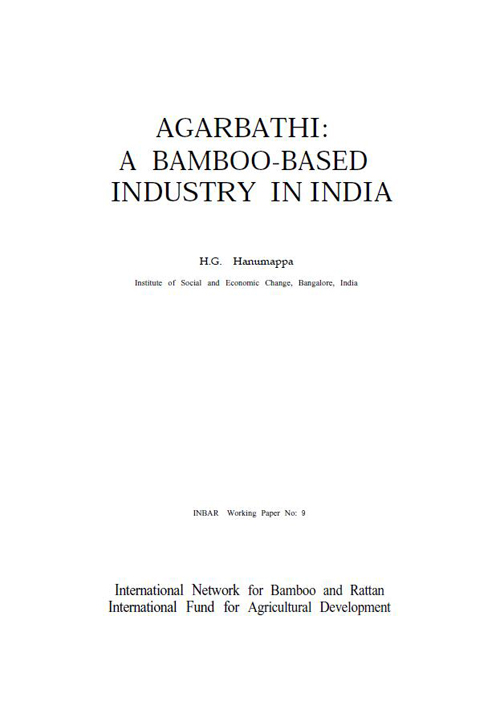 Agarbathi: A Bamboo-based Industry in India