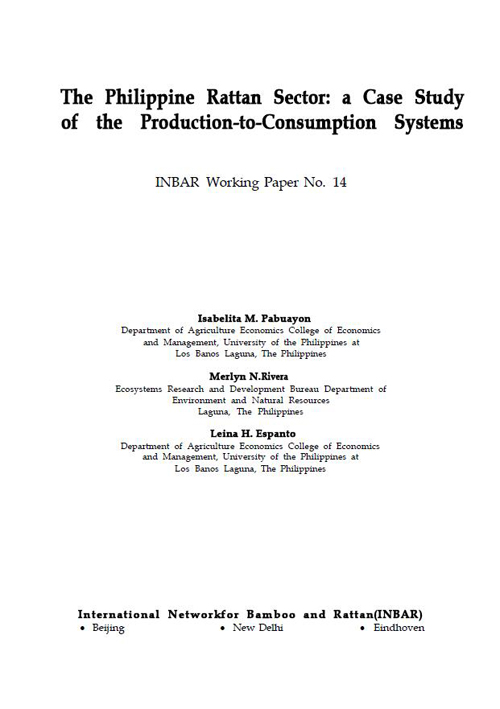 The Philippine Rattan Sector: A Case Study of the Production-to-Consumption Systems