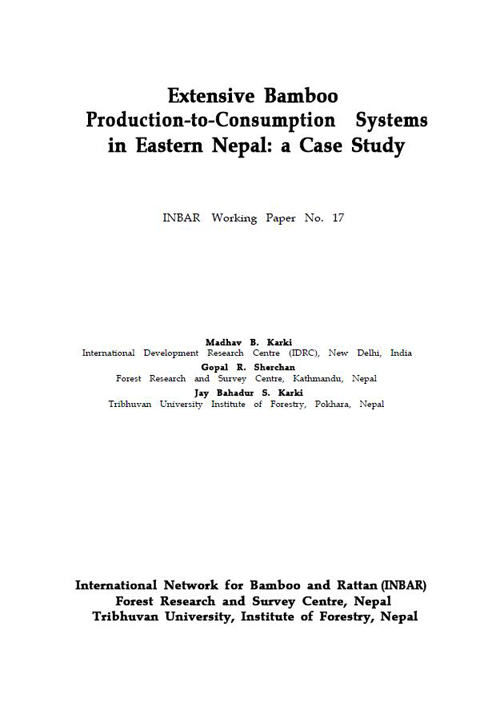Extensive Bamboo Production-to-Consumption Systems in Eastern Nepal: A Case Study