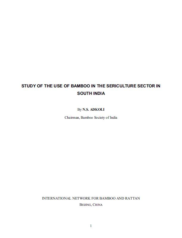 Study of the Use of Bamboo in the Sericulture Sector in South India