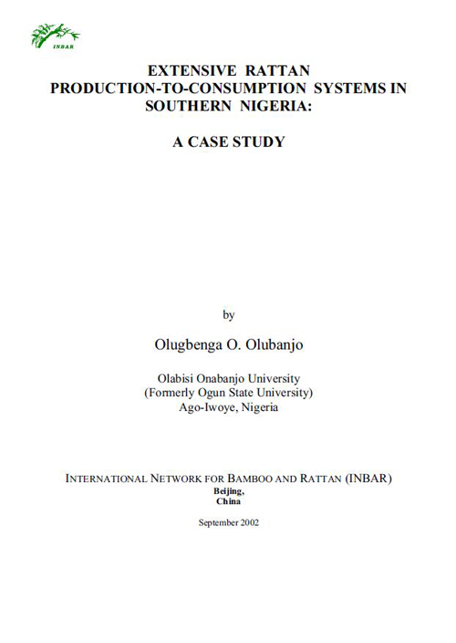 Extensive Rattan Production-to-Consumption Systems in Southern Nigeria: A Case Study