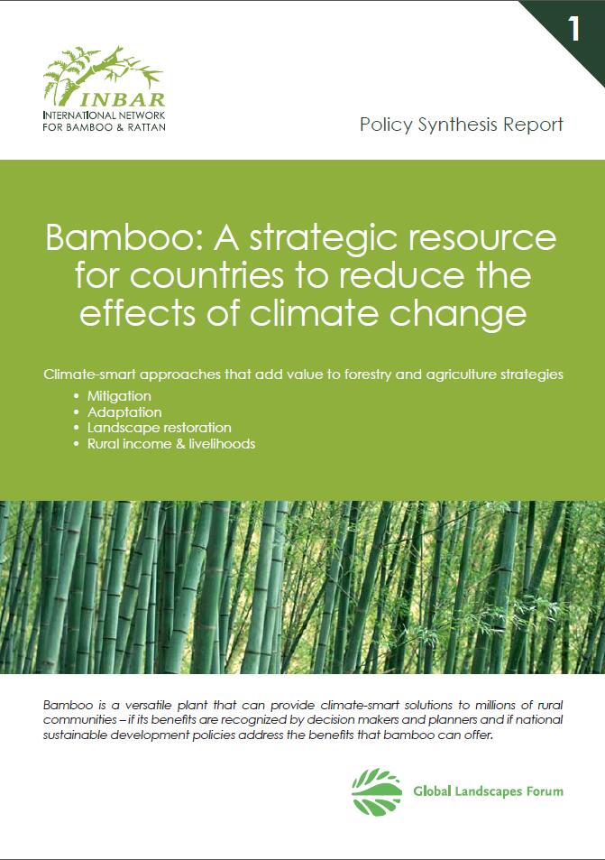 Policy Synthesis Report 1. Bamboo: a Strategic Resource for Countries to Reduce the Effects of Climate Change