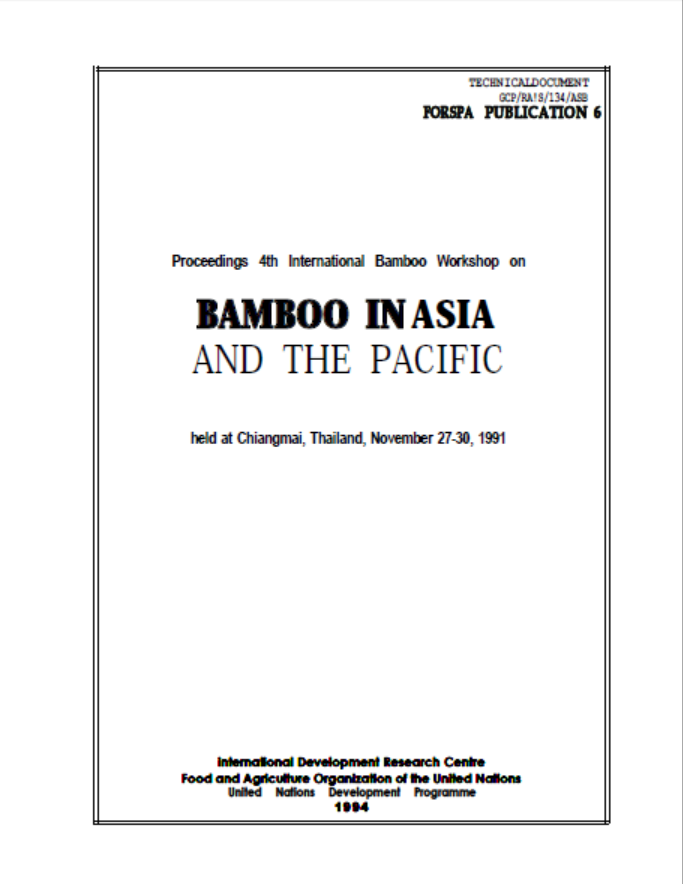 Bamboo in Asia and the Pacific (Part 1)