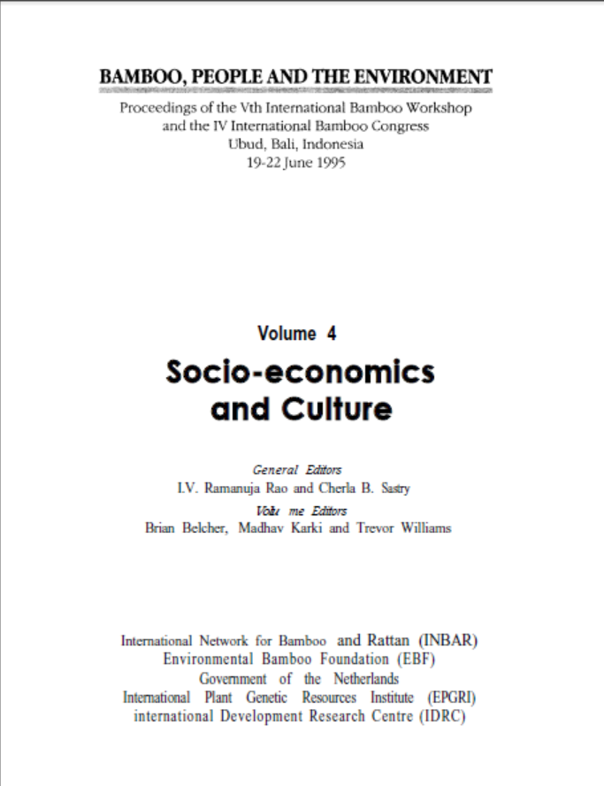 Bamboo, People and the Environment – Volume 4: Socio-economics and Culture