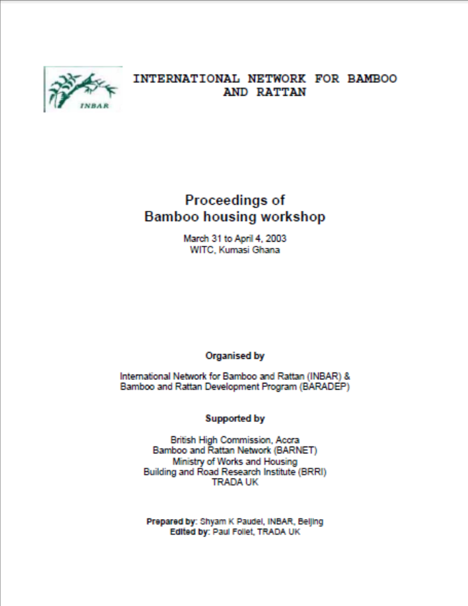 Proceedings of the Bamboo Housing Workshop